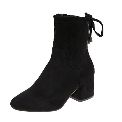 Women New Korean Version Of Short Boots High Heel British Style Student Boots
