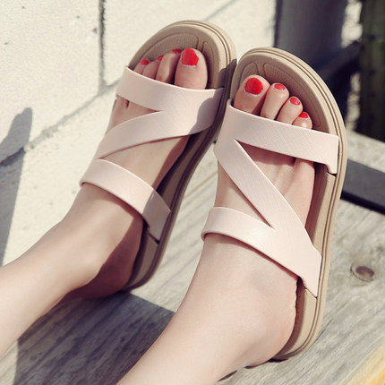 Women Summer Beach Non-slip Rubber Slippers Sandals