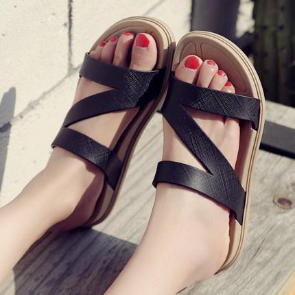Women Summer Beach Non-slip Rubber Slippers Sandals