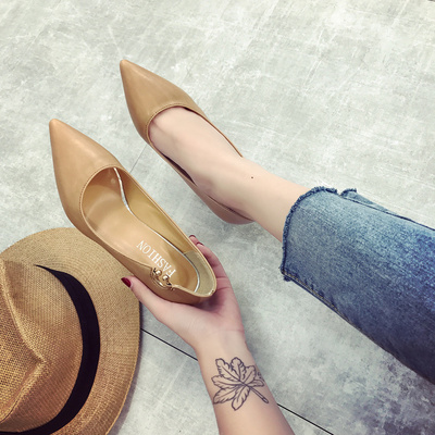 Women Shallow Mouth Pointed High Heel Working Shoes
