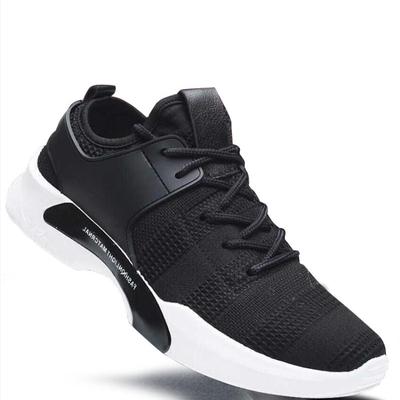 Men Korean Casual Elastic Lacing Up Sport Shoes