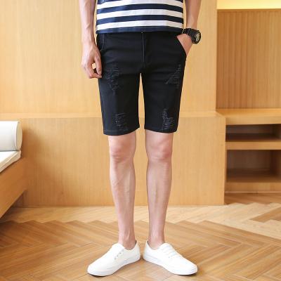 Men's Denim Stretch Leisure Korean Shorts