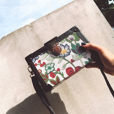Women Retro Box Small Square Mini Sling Bag
