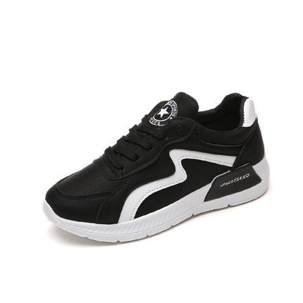 Women Korean Sports Lacing Up Platform Running Shoes