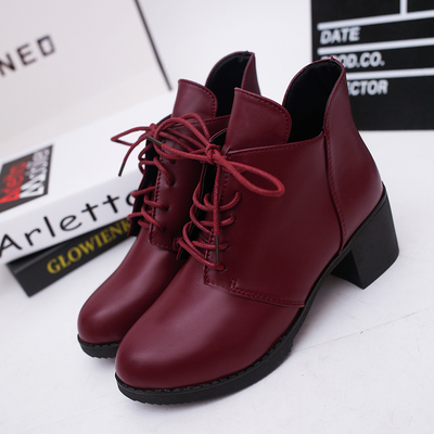 Women British Martin Velvet Pointed High-heeled Boots