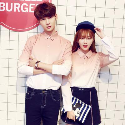 Men's Couple Women Lovers Gradient Long Sleeve Shirt