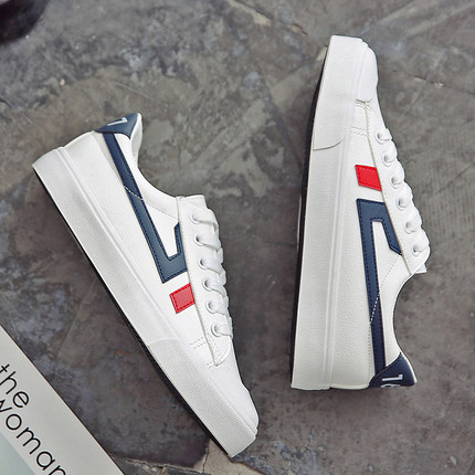 Women Canvas Lacing Up Casual White Retro Sneakers