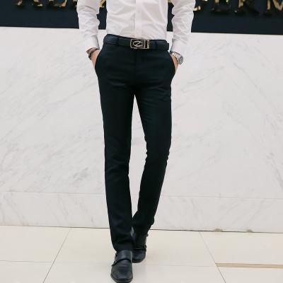 Men's Formal Office Slim Casual Wedding Long Pants