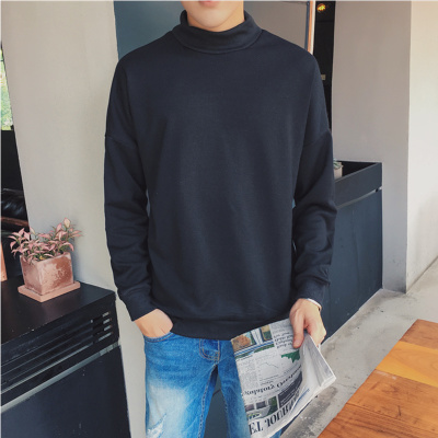 Men's Turtleneck Sweater Loose Solid Color Autumn and Winter Collection