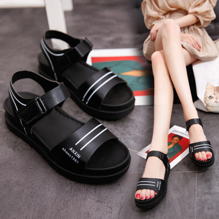 Women Thick Bottom Non-slip Velcro Sandals Casual Shoes