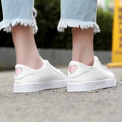 Women Korean Heart-shaped Love Street Canvas Shoes Sneakers