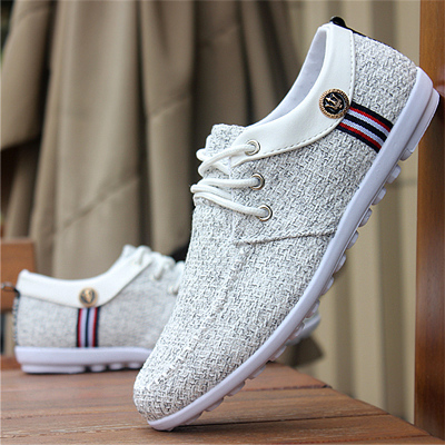Men Soft Bottom Cloth Low Casual Shoes