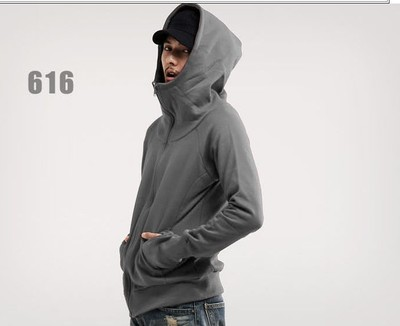 Men's Plain Colored Slim Hoodie Jacket With Zipper