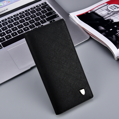 Men Ultra Thin Fashion Trend Long Leather Wallet