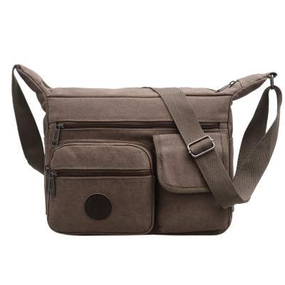 Men's Multi Pocket Messenger Canvas Shoulder Body Bag