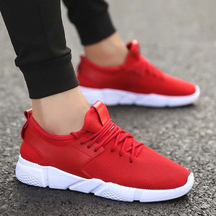 Men Breathable Cloth Running Sports Rubber Shoes