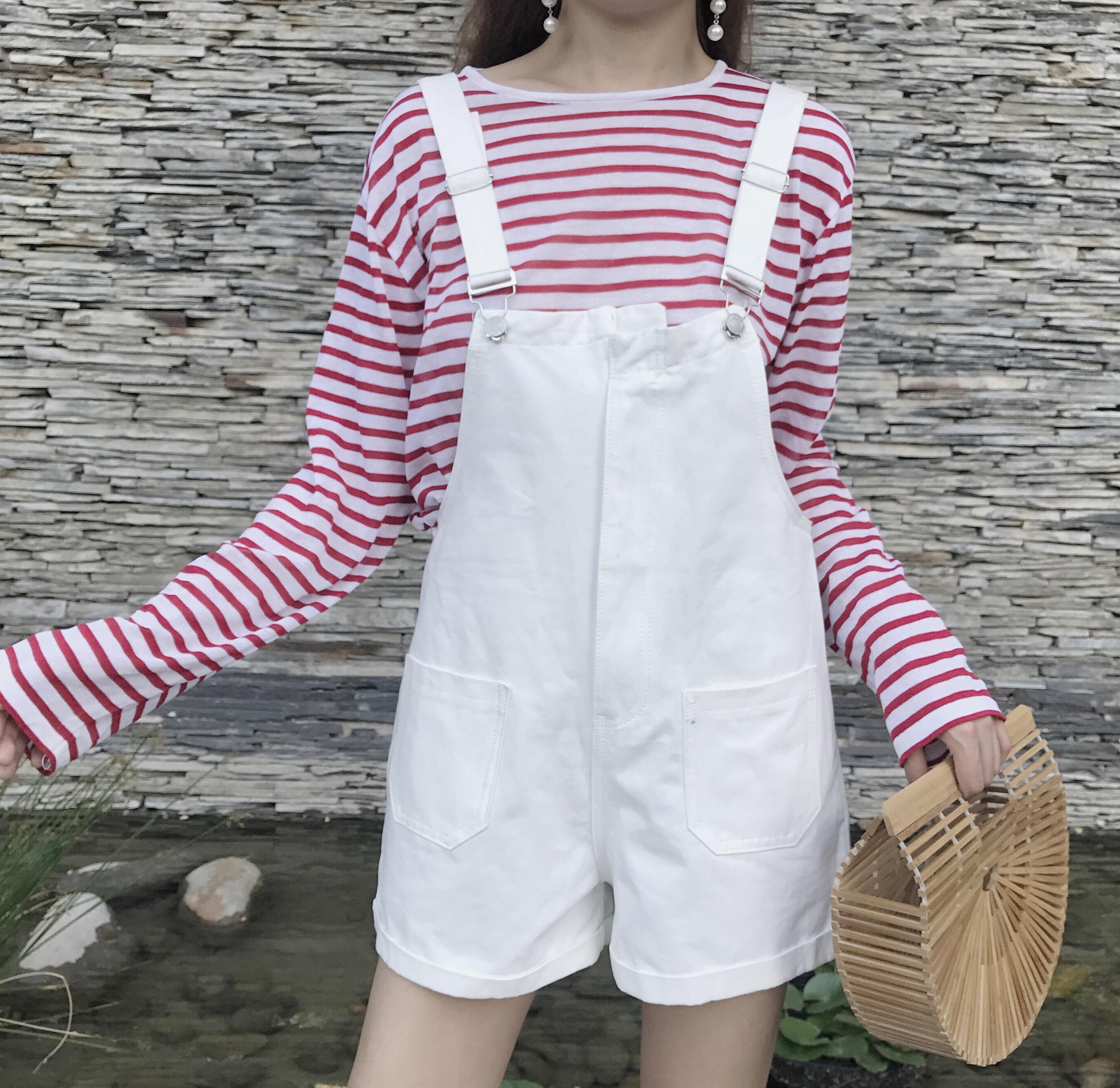 Women Plain Colored High Waist Loose Jumper Shorts