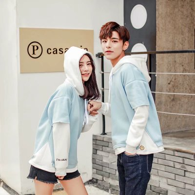 Men's Hooded Kangaroo Pocket Conventional Couple Jacket