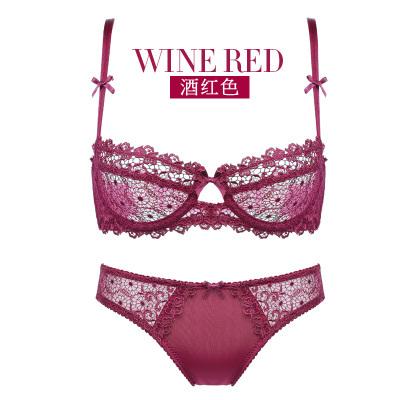 Women Sexy Lace Ribbon Standard Wear Lingerie Set