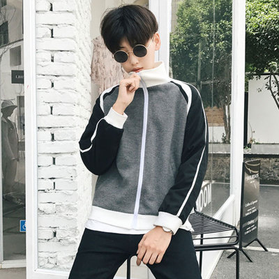 Men's Sportswear Zippered Collared Slim Varsity Jacket