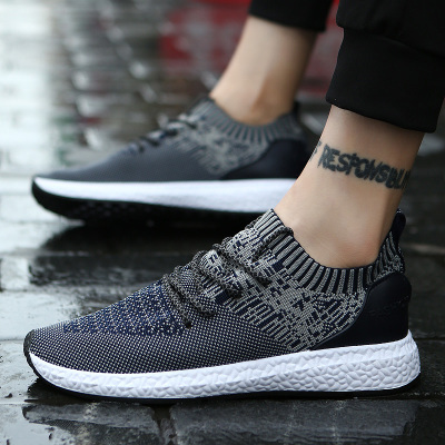 Men's Patterned Garter Fashion Lace Up Running Sports Rubber Shoes