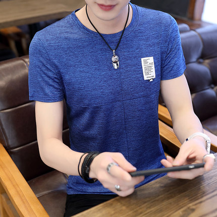 Men's Round Neck Short Sleeve Fleece Shirt Plus Size Tees