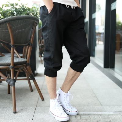 Men\'s Harem Pants Stretch Waist Cropped Running Shorts Plus Size Pants