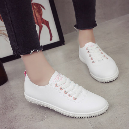 Women White Fashion Ladies Student Shoes Plus Size Sneakers