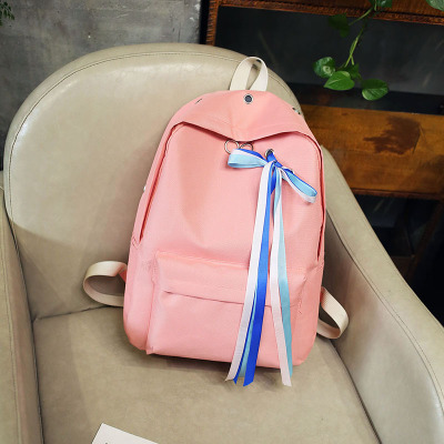 Women Lace Ribbon Style In Trend Teen Fashion Student Backpack