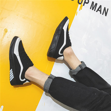 Men's Teen Trend Breathable Casual Canvas Shoes Sports Running Shoes