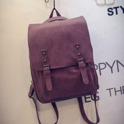 Backpack School College Women Leather