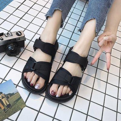 b98596a606a0 Women Open Toe Wild Summer Beach Flat Bottom Plus Size Sandals
