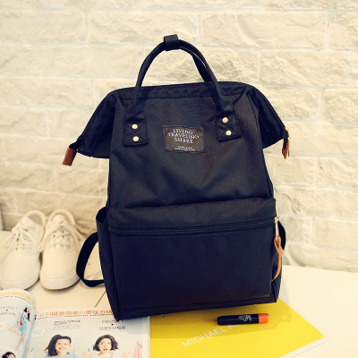 Anello Black Backpack School Travel Bags Women