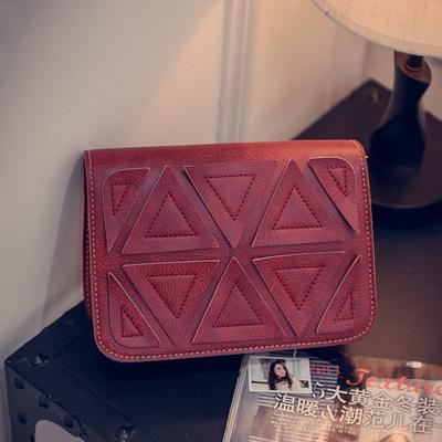 Geometry Brown Bag Shoulder Sling Crossbody