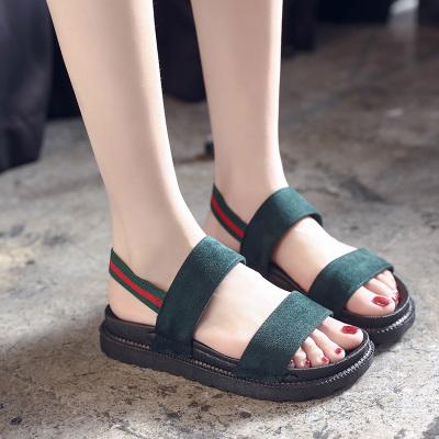 Women Simple Roman Shoes Low Heel Street Trend Ladies Plus Size Sandals