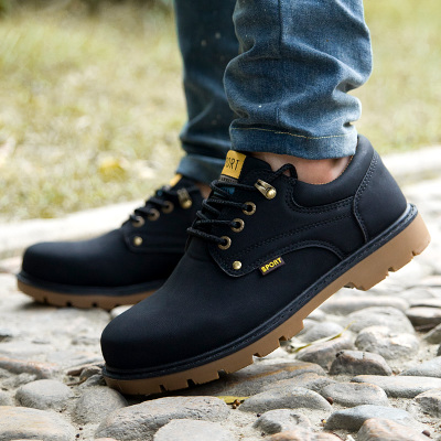 Men's Close Lace Up Working Shoes Casual Breathable Shoes