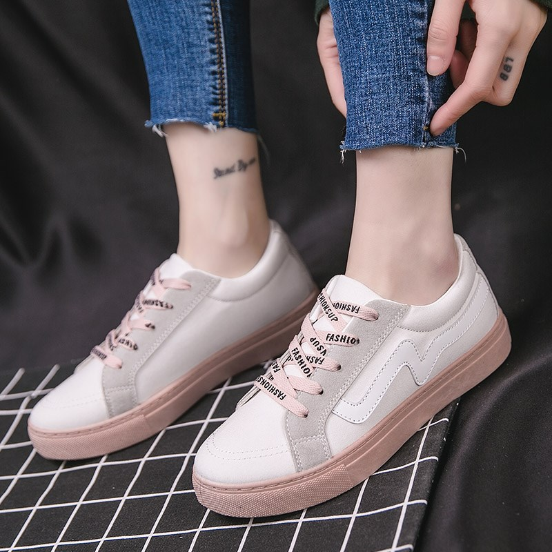 Women Fashion Sneakers Casual Lace Up Rubber Shoes Plus Size Sports Shoes