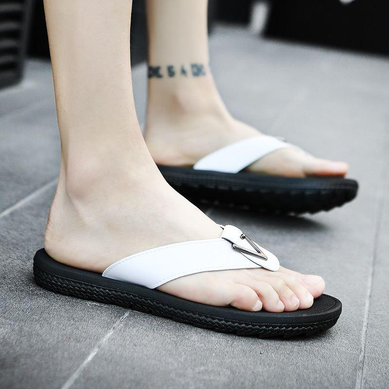 [PRE-ORDER] Men's Leather Slippers Summer Beach Fashion Daily Wear Flip Flops