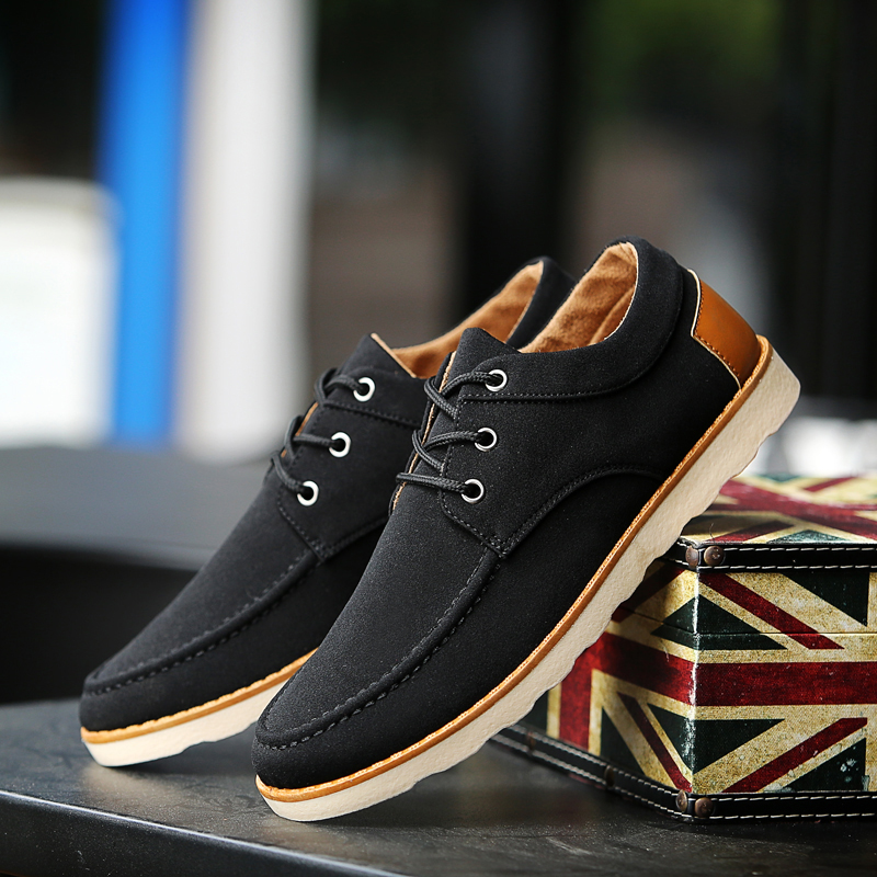 [PRE-ORDER] Men's Plain Casual Lace Up Shoes Daily Business Casual Shoes