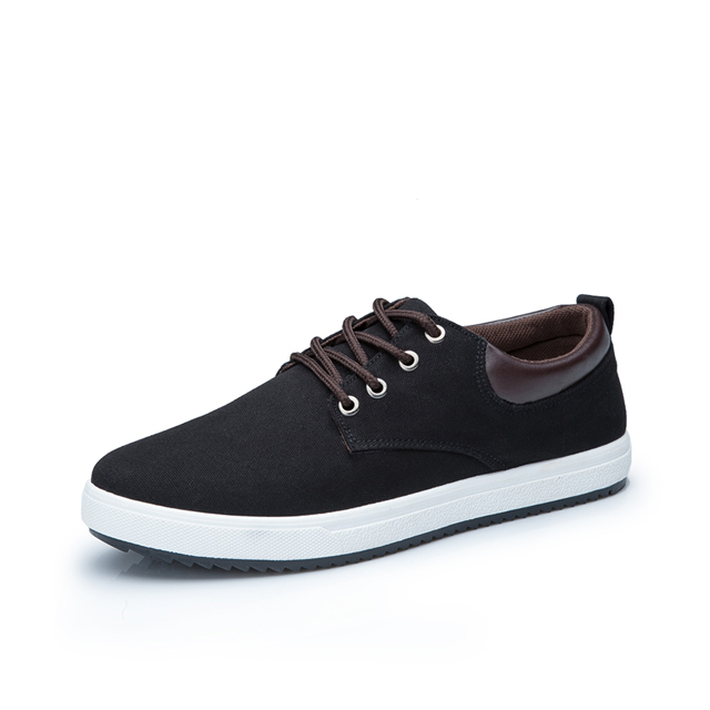 Men's Solid Color Canvas Shoes Lace Up Comfort Style Simple Fashion Shoes