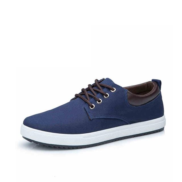 Men's Solid Color Canvas Shoes Lace Up Comfort Style Simple Fashion Shoes