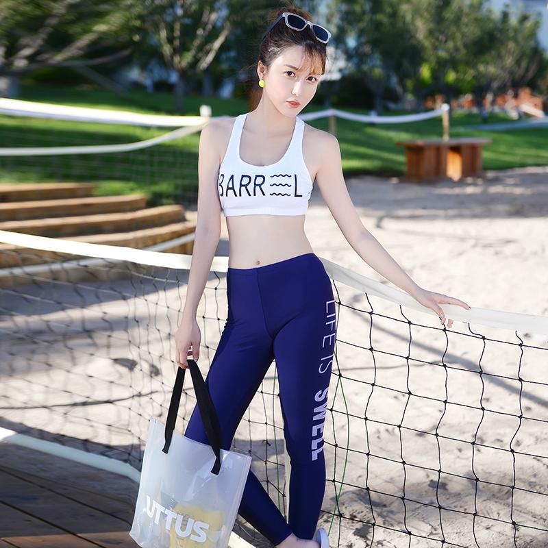 Women Sports Swimsuit Bra Snorkeling Pants Summer Plus Size Swimwear