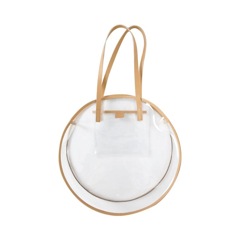 Women Round Jelly Bag Transparent Fashion Large Capacity Shoulder Bag