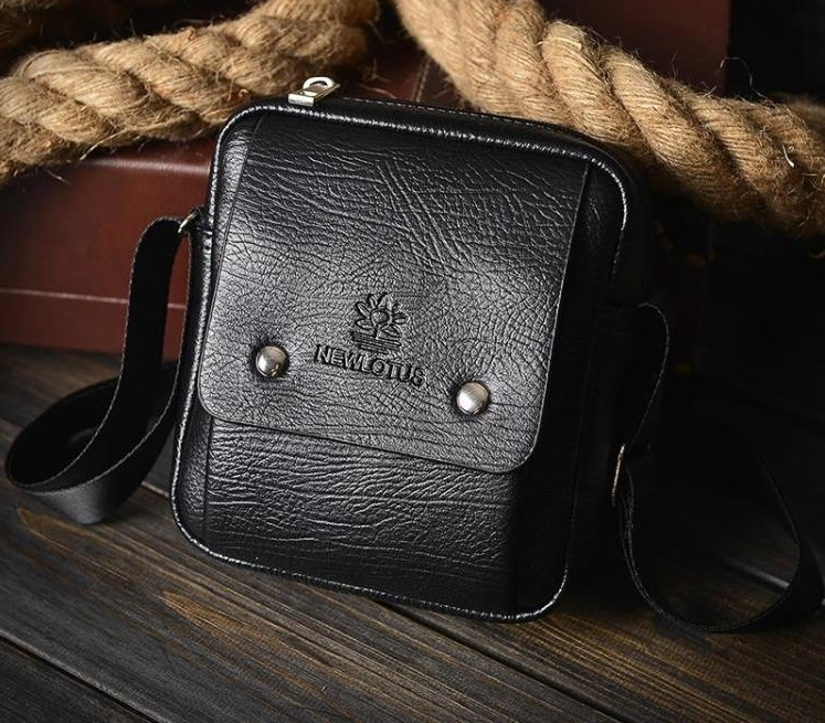 Men's Casual Leather Small Travel Bag Male Cross Body Sling Bag