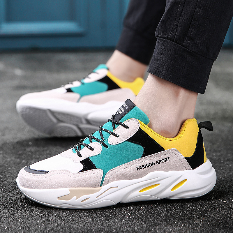Men's Retro Sports Shoes Wild Trend Running Outdoor Rubber Shoes