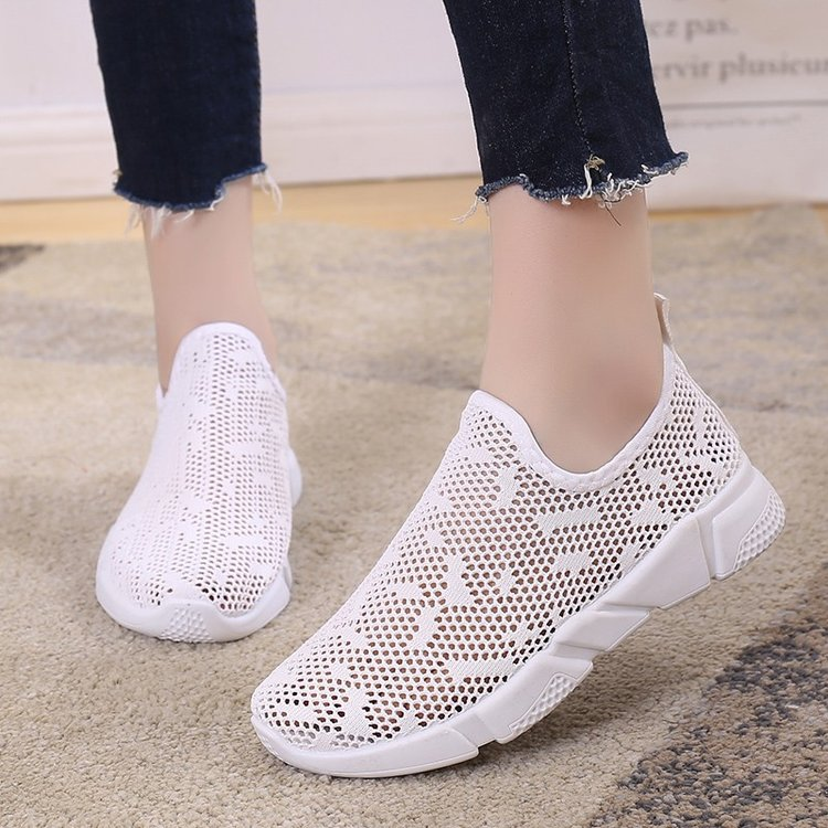 Women Mesh Easy Slip On Pedal Loafers Sports Plus Size Ladies Shoes