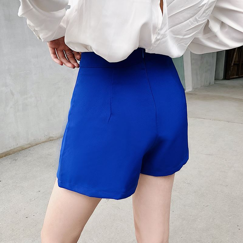 Women Chiffon Sexy Shorts High Waist Wide Leg Casual Fashion Plus Size Bottoms