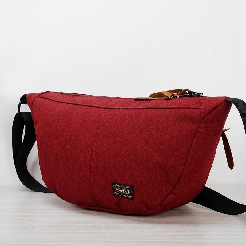 Men's Street Retro Trend Cloth Messenger Bag Plain Zippered Male Sling Bag