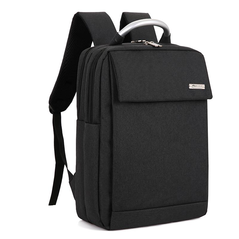 Men's Rectangle Laptop Bag Hard Handle Business Large Capacity Travel Backpack