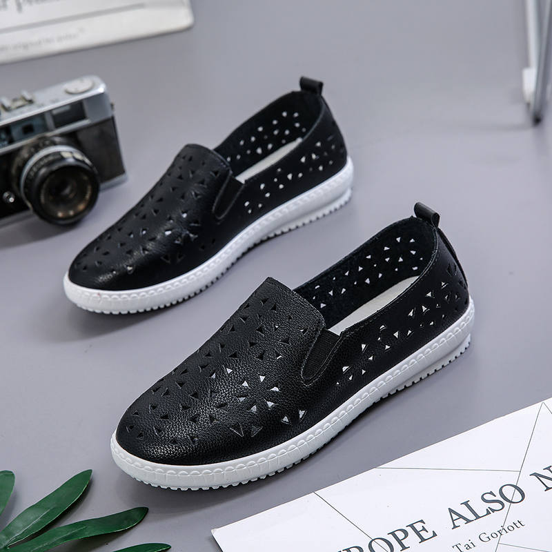 Women Breathable Easy Slip On Sneakers Summer Fashion Canvas Female Shoes